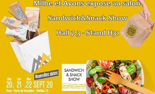 Milhe et Avons expose au salon Sandwich et Snack Show