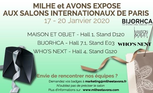 Milhe et Avons expose aux Salons Internationaux de Paris