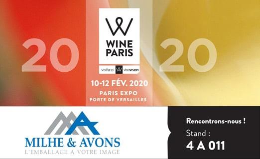 Milhe et Avons expose au salon Wine Paris !